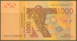 West African States-TOGO 1000 Fr Note, P815Ta, UNC - Togo