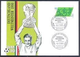 Germany Deutschland 1990 Cover: Soccer  Football Fussball Calcio FIFA World Cup Italia 90: World Cup Winners Weltmeister - Wereldkampioenschap