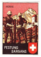 AK Motiv Militär Festung Sargans 1939/41 Ges. 3.5.1942 ZH Nach Serpiano - Suisse