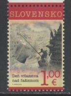 SLOVAKIA ,2015 ,MNH, WWII, END OF WORLD WAR II, BLACK AND WHITE PHOTO, 1v - 2. Weltkrieg