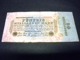ALLEMAGNE 50000000000 Mark 50 Milliarden/milliards 10/10/1923, Pick 119 A, GERMANY Inflation - [ 3] 1918-1933 : République De Weimar