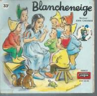 """45 Tours SP - Série TV """" BLANCHE NEIGE """" ( Déssin Animé - GERMAINE BOURET ) + LIVRET 12 Pages - Soundtracks, Film Music"""
