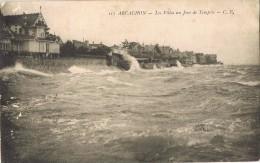 14149. Postal ARCACHON (Gironde) Les Villas Un Jour De Tempéte. Tempestad - Arcachon