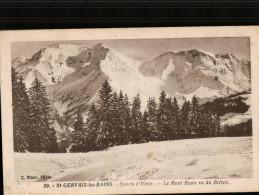 Carte Sépia 39. St.GERVAIS.les.BAINS.  Sports D'Hiver.  Le Mont Blanc Vu Du Bettex. - Saint-Gervais-les-Bains