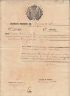 E4513 CUBA SPAIN ESPAÑA MILITAR DOC 1850 SELLO DEL REGIMIENTO DEL INFANTE  No5 - Historical Documents