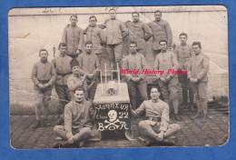 CPA Photo - Militaire Du 3e Régiment - Zouaves ? - 1924 - Enterrement Du Pére Cent - Classe 22 - Tête De Mort Crane - Militaria