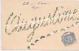 PRENOM - AUGUSTINE - Peinture Sur Carte - Prénoms
