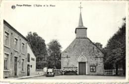 BELGIQUE - HAINAUT - MOMIGNIES - FORGE-PHILIPPE - L´Eglise Et La Place. - Momignies