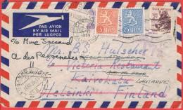 Cape Twone Kaapstadt 1955 Taxe Pour La Finlande + Lausanne - Afrique Du Sud (1961-...)