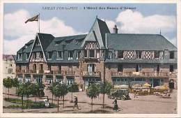 - Cotes D Armor -ref - C531 - Sables D Or Les Pins - L Hotel Des Dunes D Armor - Voiture  - Carte Colorisee  Bon Etat - - Andere Gemeenten