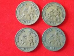 Lot De 4 Monnaies France Bon Pour 2 Francs 1922 23 25 - France