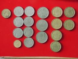 Lot De 18 Monnaies Espagne - Espagne