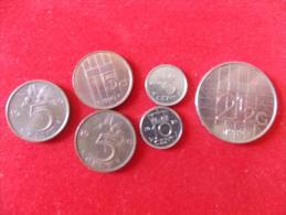 Lot De 6 Monnaies Pays Bas Nederlanden - Nederland
