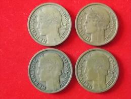 Lot De 4 Monnaies 2 Francs France 1932 33 38 39 - France