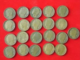 Lot De 21 Monnaies  1 Franc  Morlon France - France