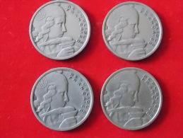 Lot De 4 Monnaies  100 Francs  Cochet France - Non Classés