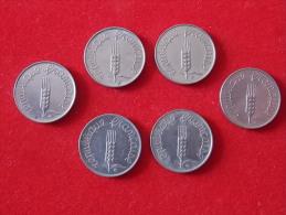 Lot De 6 Monnaies  5 Centimes Epi France - France