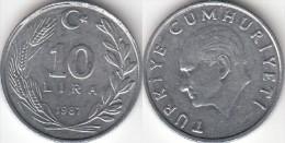 Turchia 10 Lira 1987 Km#964 - Used - Turquia