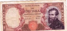 Banconota/Banconote-Monete-10.000 LIRE -MICHELANGELO-SERIE H 0478 035894-Buona Conservazione_-AUTENTICA AL 100%-2 SCAN- - [ 2] 1946-… : Repubblica