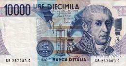 Banconota Da10.000 LIRE -,VOLTA-SERIE CB 257083 C_Banconote_Monete- Buona Conservazione-AUTENTICA AL 100%-2 SCAN- - [ 2] 1946-… : Repubblica
