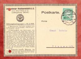 Karte, Rechnung Ludwigsburger Metallwarenfabrik, Rheinland, Ludwigsburg Nach Plauen 1925 (78837) - Deutschland