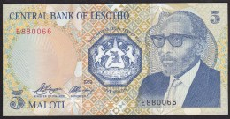 Lesotho 5 Maloti 1989 P10 UNC - Lesoto