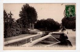 CPA/AQ262/CHALONS SUR MARNE  ECLUSE ILE DU  CANAL 1922 - Châlons-sur-Marne