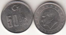 Turchia 50 Bin 2001 Km#1105 - Used - Turchia