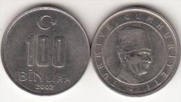 Turchia 100 Bin 2002 Km#1106 - Used - Turchia