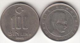 Turchia 100 Bin 2003 Km#1106 - Used - Turchia