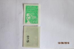 France Neuf Année 2002, Sans Trace De Charnière,  Roulette, Noir Au Verso, Marianne Du 14 Juillet, N°3458b, Mariannes - Nuevos