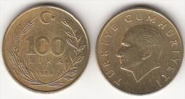 Turchia 100 Lira 1988 Km#988 - Used - Turchia