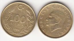 Turchia 100 Lira 1990 Km#988 - Used - Turchia