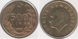Turchia 500 Lira 1989 Km#989 - Used - Turchia