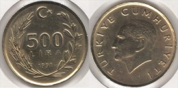 Turchia 500 Lira 1991 Km#989 - Used - Turchia