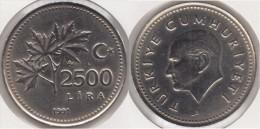 Turchia 2500 Lira 1991 Km#1015 - Used - Turchia