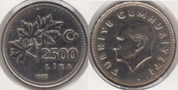 Turchia 2500 Lira 1992 Km#1015 - Used - Turchia