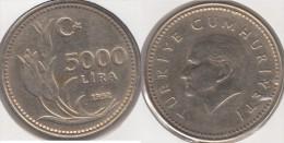 Turchia 5000 Lira 1992 Km#1025 - Used - Turchia