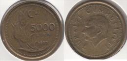 Turchia 5000 Lira 1997 Km#1029.1 - Used - Turchia