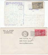 #985 & #998 US Civil War Veterans UCV GAR Organizations, 3-cent US Postage Stamps On Postcard - Briefe U. Dokumente