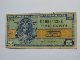 5 Five Cents Série 521 Miltary Payment Certificate 1954-1958 *** EN ACHAT IMMEDIAT *** - Certificati Di Pagamenti Militari (1946-1973)