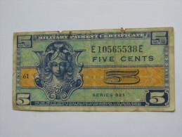 5 Five Cents Série 521 Miltary Payment Certificate 1954-1958 *** EN ACHAT IMMEDIAT *** - 1954-1958 - Series 521