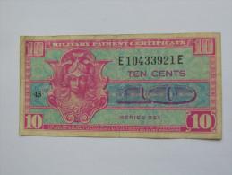 10 Ten Cents Série 521 Miltary Payment Certificate 1954-1958 *** EN ACHAT IMMEDIAT *** - Certificati Di Pagamenti Militari (1946-1973)
