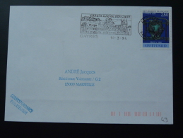 43 Haute Loire Cayres - Flamme Sur Lettre Postmark On Cover - Postmark Collection (Covers)