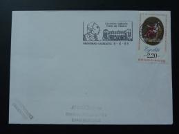 43 Haute Loire Chavaniac Lafayette Chateau Castle 1989 - Flamme Sur Lettre Postmark On Cover - Indipendenza Stati Uniti