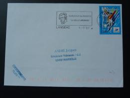 43 Haute Loire Langeac Marquis De Lafayette 1997 - Flamme Sur Lettre Postmark On Cover - Rivoluzione Francese