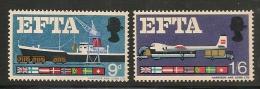UK - European Free Trade Association EFTA - 1967 SG # 715p/716p Set Of 2 Phosphor - ** MINT NH - 1952-.... (Elizabeth II)