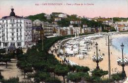 SAN SEBASTIAN - Paseo Y Playa De La Concha, Gel.um 1910? Mit Marke - Spanien