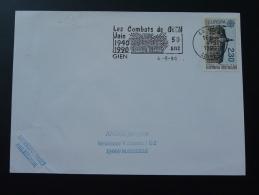 45 Loiret Gien Combats 1940 1990 - Flamme Sur Lettre Postmark On Cover - 2. Weltkrieg