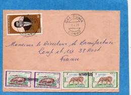 """MARCOPHILIE-lettre-congo-cad GAMBOMA -Avec Oblitération D´arrivée France- -""""LES ADRETS"""" Linéaire - Marcophilie (Lettres)"""